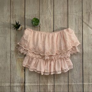 American Eagle Outfitters pink tube top